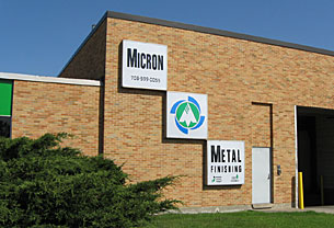 Micron Metal Finishing facility entrance